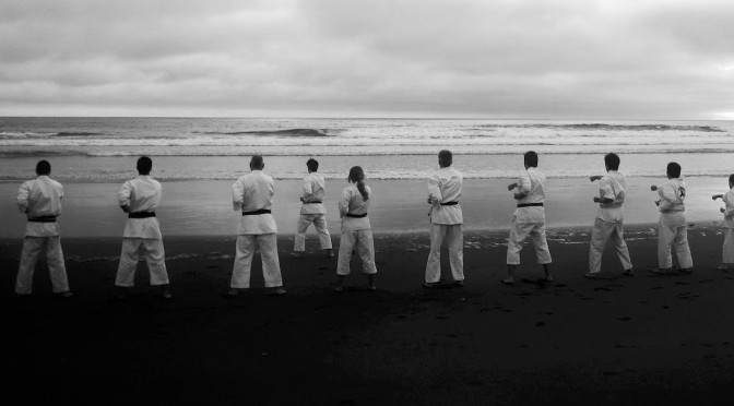 100 Seiken choku-zuki. Beach Training 2010.